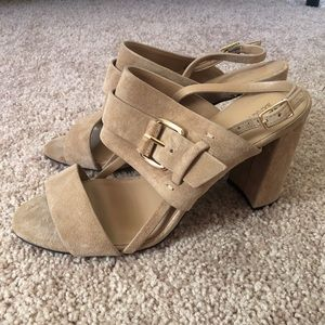 Tan Suede Heels *Never Worn*